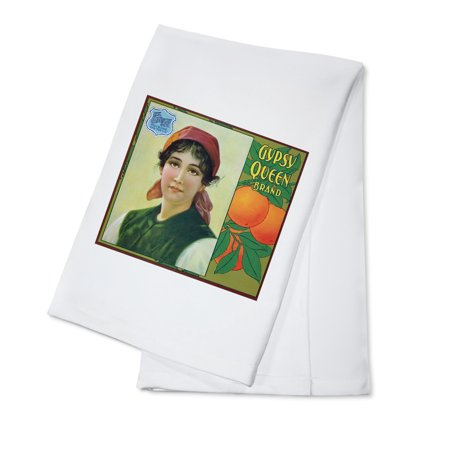 Riverside, California - Gypsy Queen Brand Citrus Label (100% Cotton Kitchen Towel)](Riverside California Halloween)