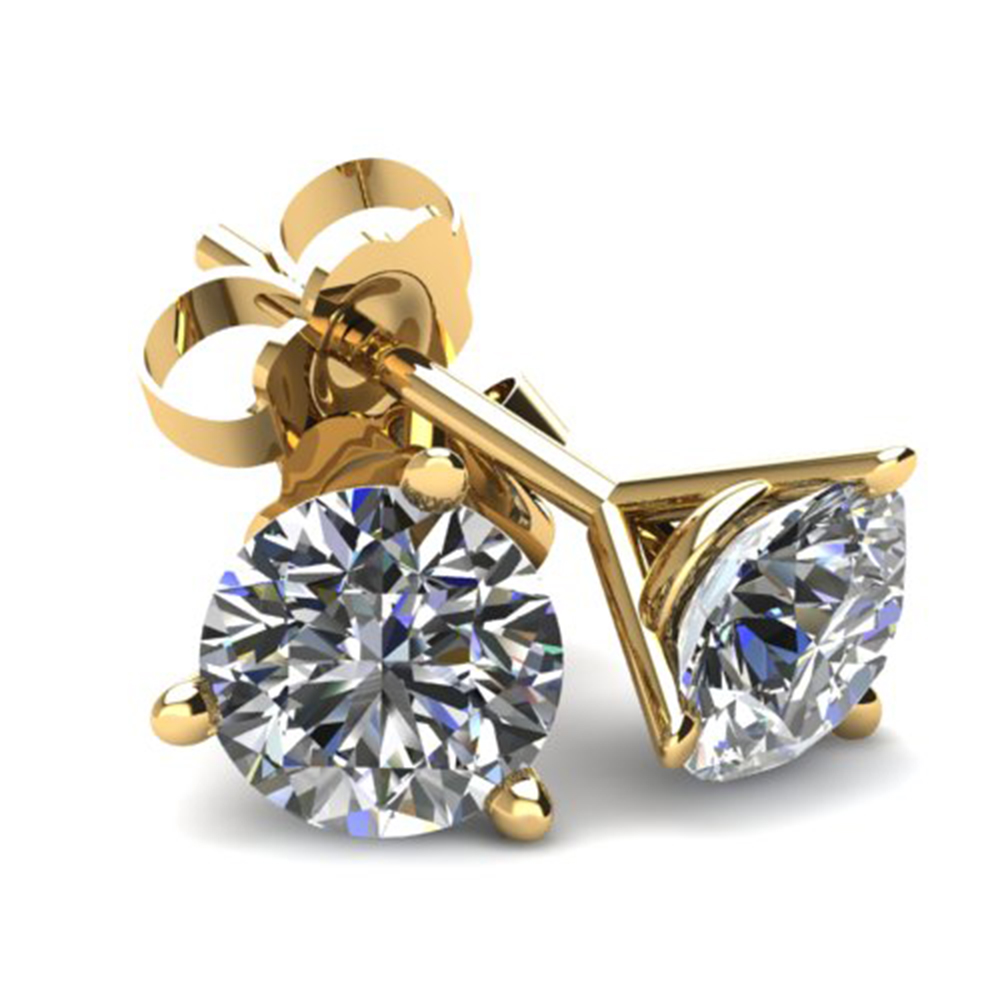 .50Ct Round Brilliant Cut Natural Diamond Stud Earrings in 14K Gold Martini Setting