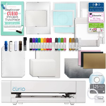 Silhouette Curio Digital Crafting Machine with Large Base, Etching, Sketching, Emboss and More ()