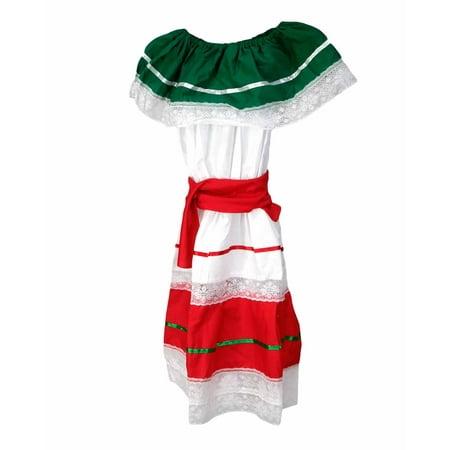 Girl's Mexican Fiesta Dress - Fiesta Dress Up Ideas