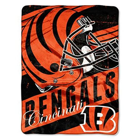 """NFL Micro Raschel Deep Slant 50"""" x 60"""" Throw, Cincinnati Bengals"""