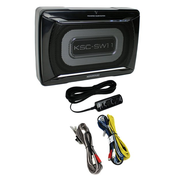 Kenwood KSC-SW11 150-Watt Compact Powered Subwoofer with Remote
