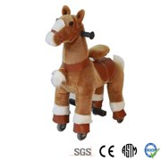 Golden Tan Pony Rocking Cycle Horse Ride On Horse Giddy Up Cowboy! by TODDLER TOYS