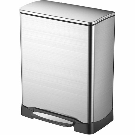 Household Essentials Eko Neo Stainless Trash Can With Hands Free Open And Close  50L