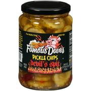 (2 Pack) Famous Dave's Devil's Spit Pickle Chips 24 fl. oz. Jar