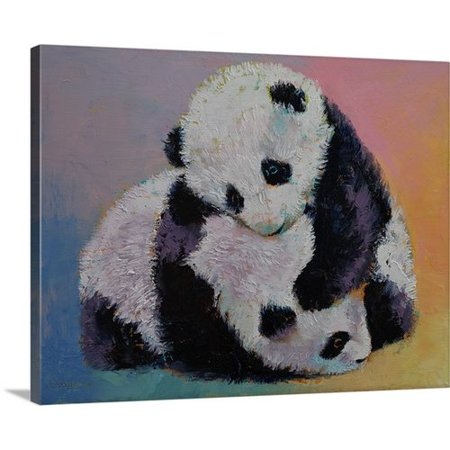 Canvas On Demand Baby Panda Rumble By Michael Creese Graphic Art On Canvas