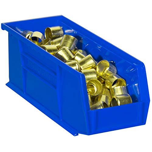 12-Pack Blue, Akro-Mils 30224 AkroBins Plastic Storage Bin Hanging Stacking Containers, - 1 11-Inch x 4-Inch x 4-Inch