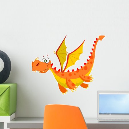 Flying Dragon Peel (Flying Dragon Wall Decal by Wallmonkeys Peel and Stick Graphic (18 in W x 15 in H) WM36372)
