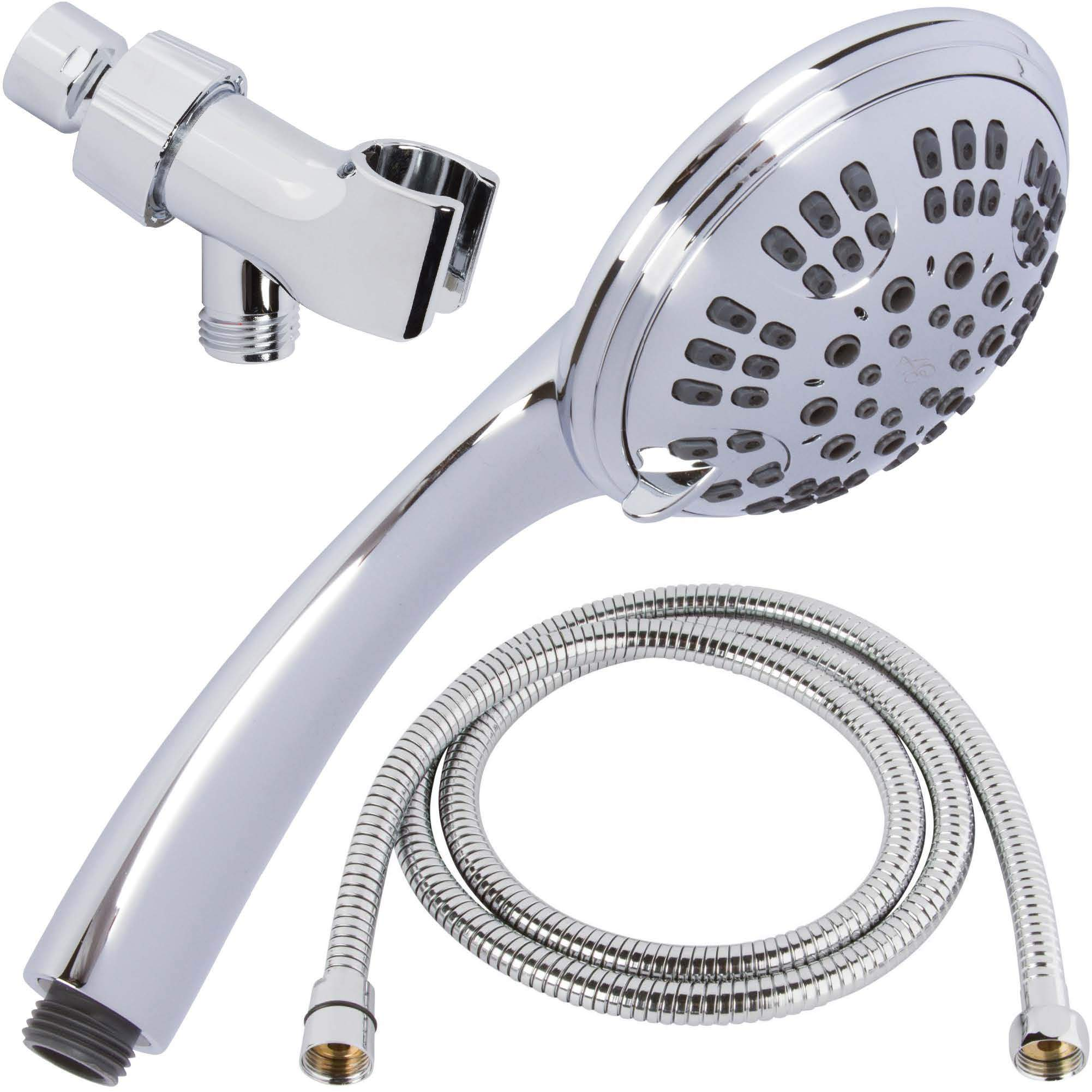 Shower Head Hand Held High Pressure Double Chrome Detachable Dual Rainfall New