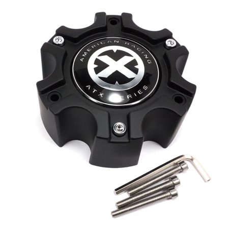 4X American Racing ATX Matte Black Center Caps 6x135 6x139.7 AX184 AX185 AX188 American Racing Pro Series
