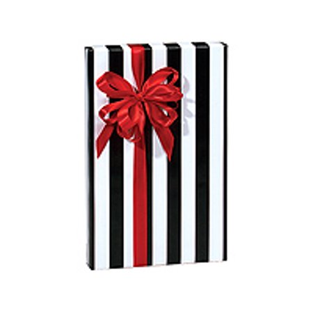 Black and White Stripe Birthday / Special Occasion Gift Wrap Wrapping Paper-16ft (Black And White Wrapping Paper)