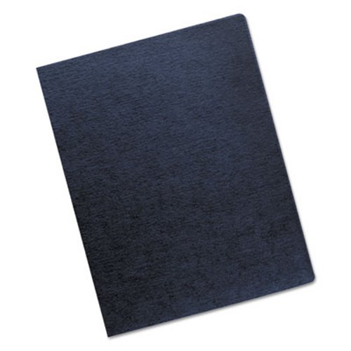 Fellowes Linen Texture Binding System Covers, Navy, 200 per Pack (FEL52113) by