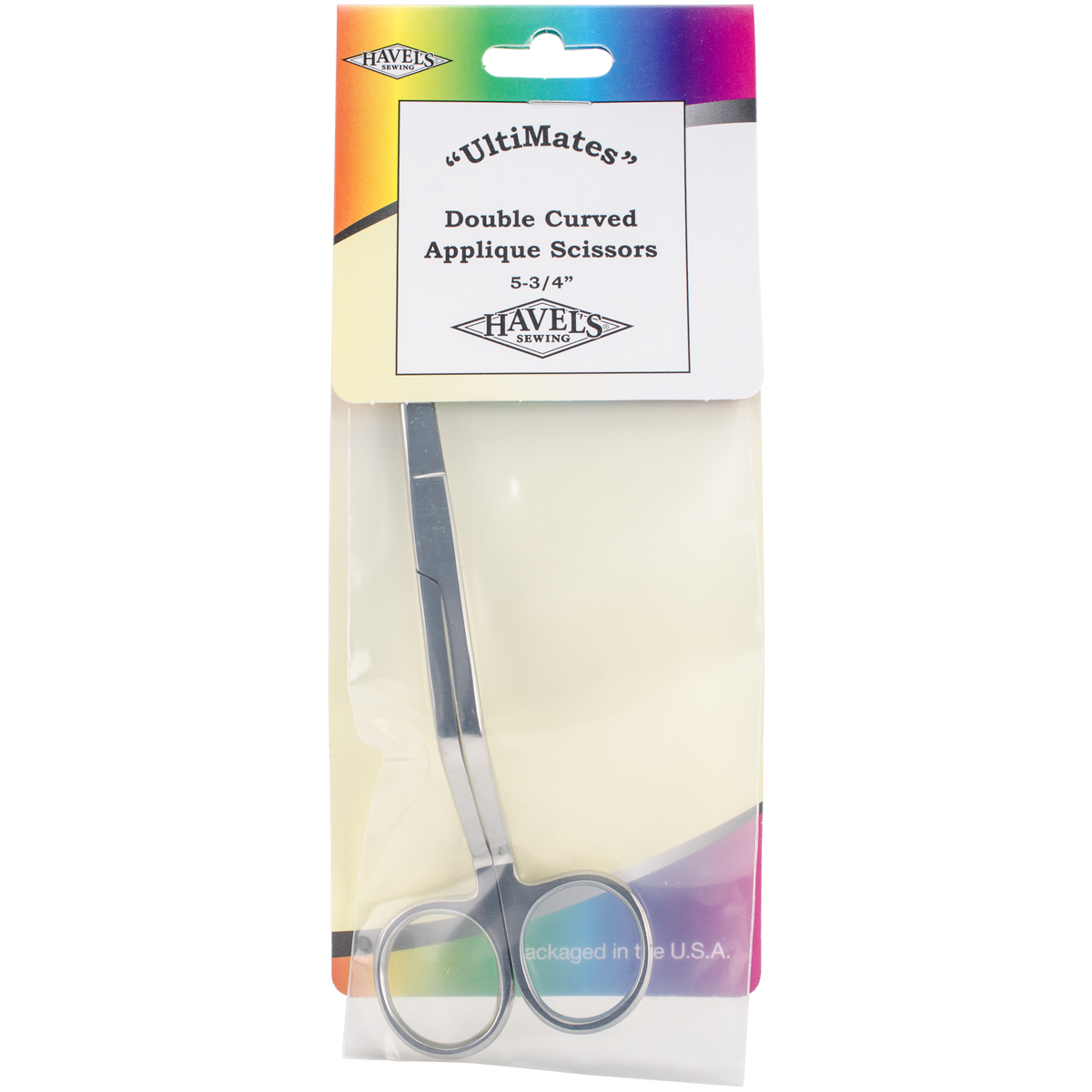 """Double-Curved Applique Scissors 5.75""""-Rounded Tips"""