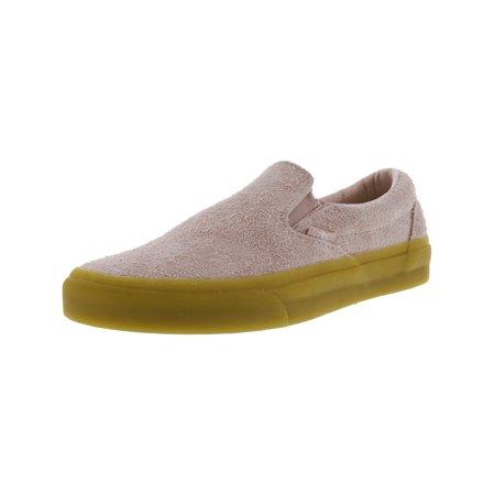aec8a7c969e280 Vans - Vans Classic Slip-On Fuzzy Suede Sepia Rose Ankle-High Shoes - 9.5M    8M - Walmart.com