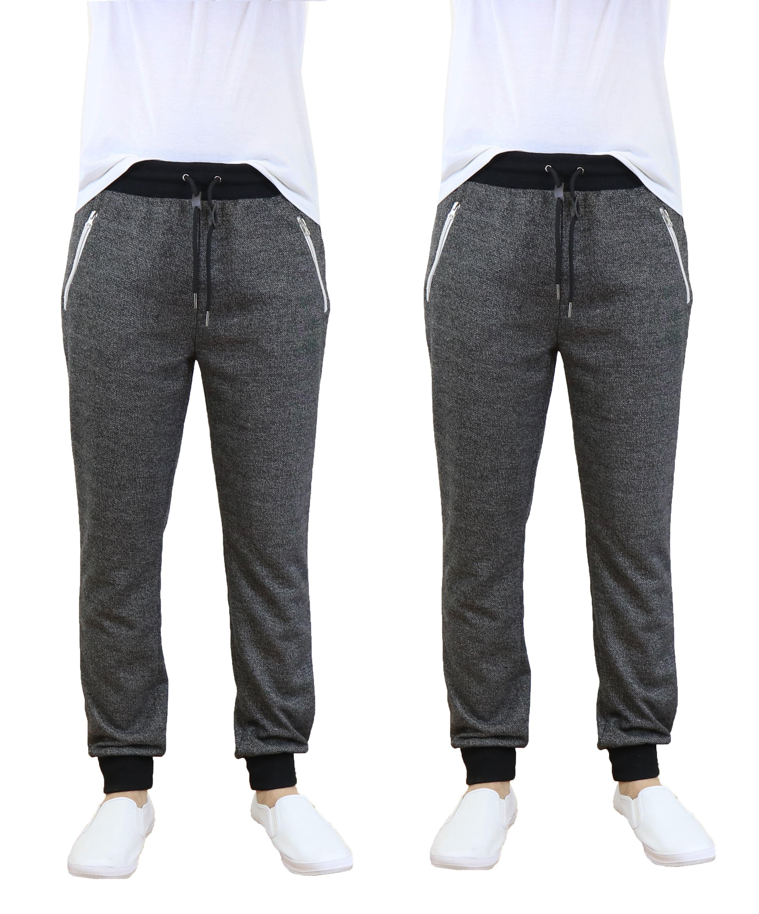 Men's Jogger Sweatpants With Zipper Pockets (2-Pack)