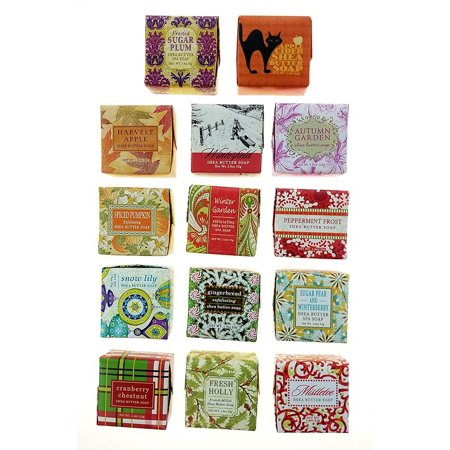 Greenwich Bay Trading Company Soap Sampler - Vegetable Soap Enriched with Shea & Cocoa Butter -14 pack of 1.9oz bars