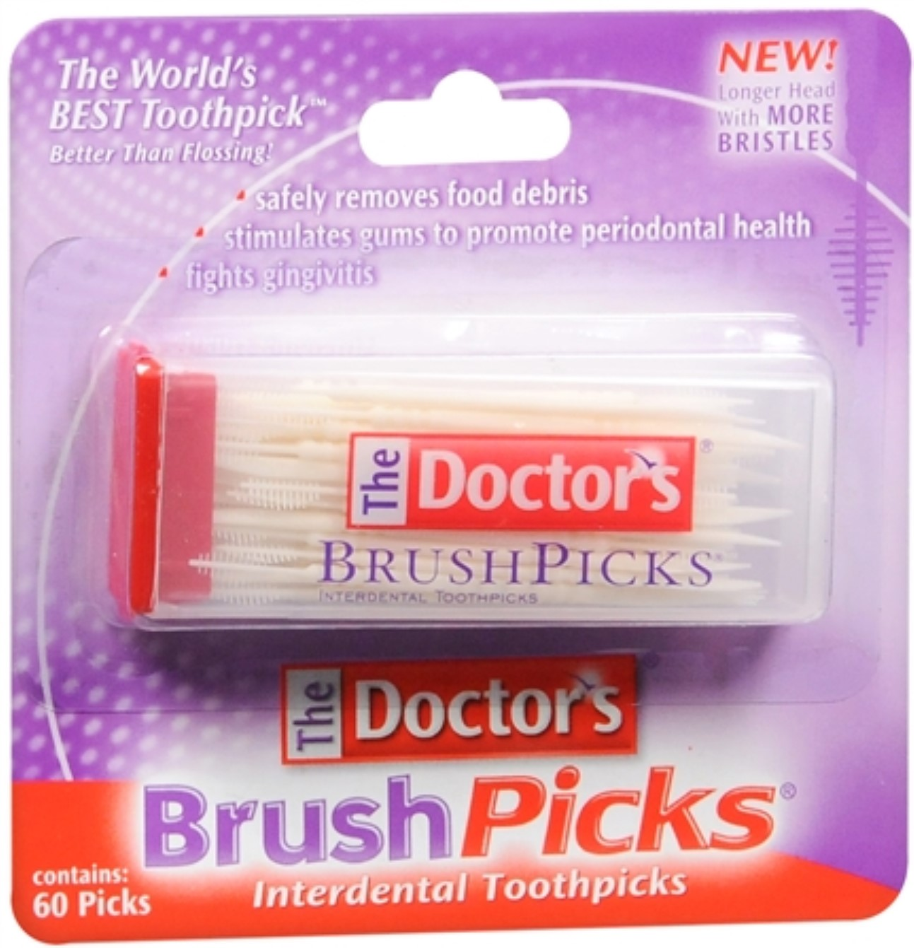 The Doctor's BrushPicks 60 Each (Pack of 6)