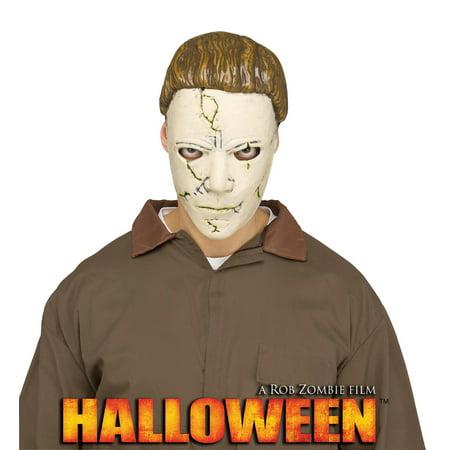 Halloween Serial Killer Mask (Michael Myers Mens Adult Halloween Serial Killer Costume)
