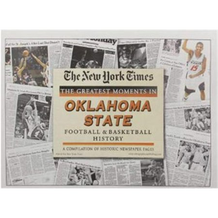 New Football Ball - Athlon CTBL-010666 Oklahoma State Cowboys Unsigned Greatest Moments in Football & Basketball History New York Times Historic Newspaper Compilation