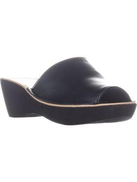Womens REACTION Kenneth Cole Fine Mule Slip On Heels, Black, 5 US / 35 EU