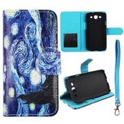 For Samsung Galaxy S3 i9300 Wallet Starry Night Syn Leather Folio Dual Layer Interior Design Flip PU Leather case Cover Card Cash Slots & Stand  Cover