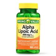 Spring Valley Alpha Lipoic Acid Capsules, 200 mg, 100 Ct