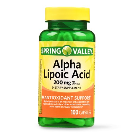 Free Test 100 Capsules - Spring Valley Alpha Lipoic Acid Capsules, 200 mg, 100 Ct