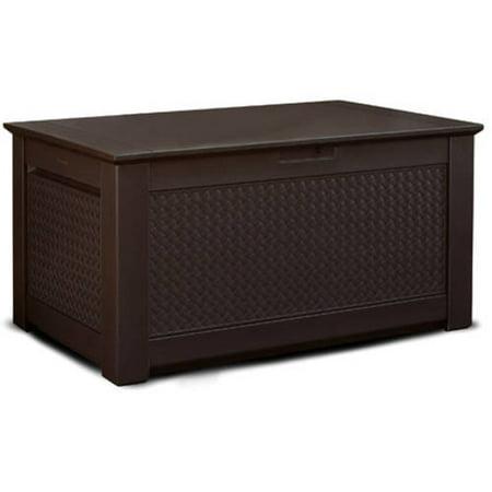 Rubbermaid Basketweave Deck Box Dark Teak Large