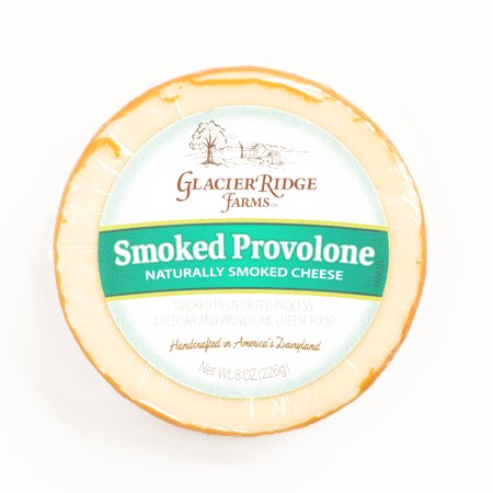 Glacier Ridge Smoked Provolone Cheese  8 oz each (1 Item Per Order, not per (Best Cheese With Smoked Salmon)