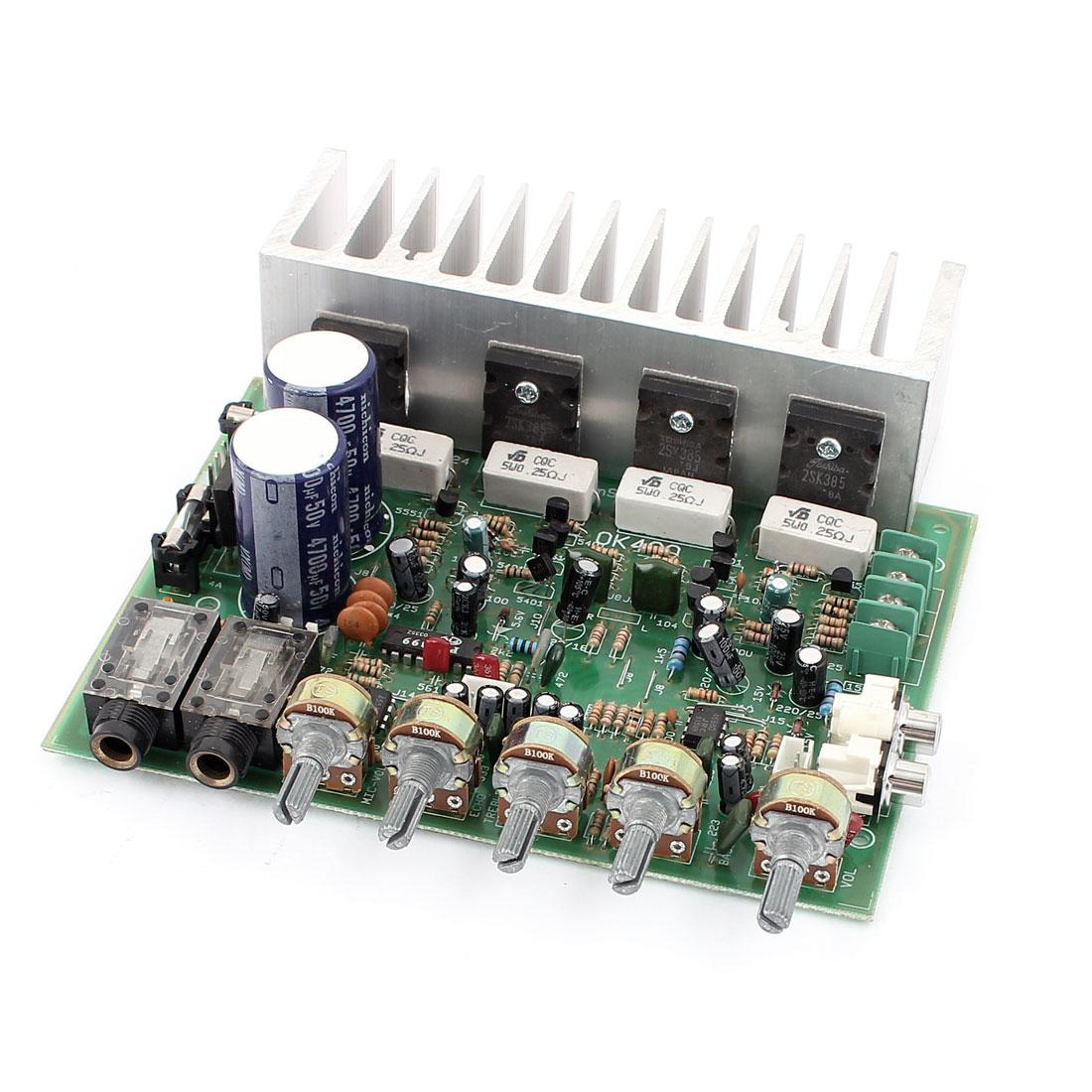 Unique Bargains  24V 250W+250W LFE Hi-Fi 4 Channel Audio Stereo Power Amplifier Board for Car