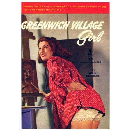 Girls Village (Greenwich Village Girl POSTER Movie Retro Book Cover Mini)