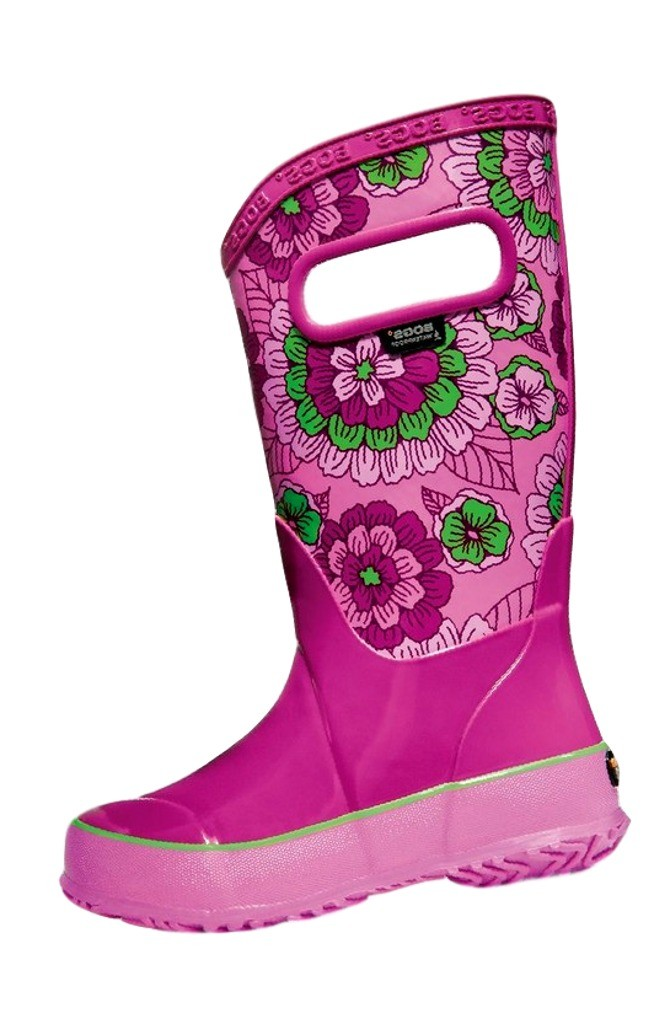 Bogs Boots Girls Boot Pansies Waterproof Non-Slip Rubber 72087 by Bogs