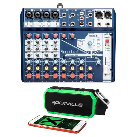 Soundcraft Notepad-12FX 12-Channel Analog Mixer w/ USB I/O+Bluetooth (12 Channel Analog Mixer)