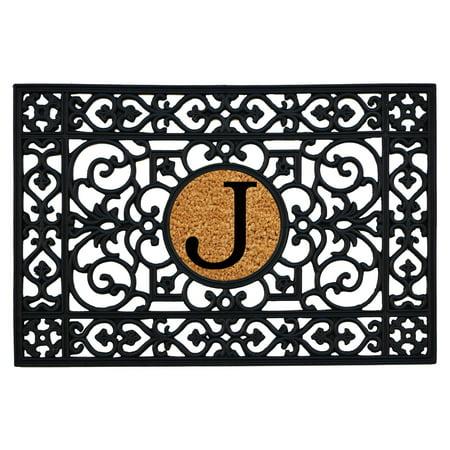 Monogram Door Mats (Calloway Mills Rubber Monogram Outdoor Doormat 2' x 3' (Letter J) )