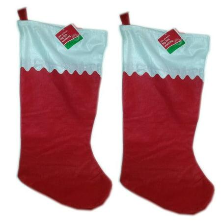 Big Sky Stocking (BIG Red & White Felt Stockings 33