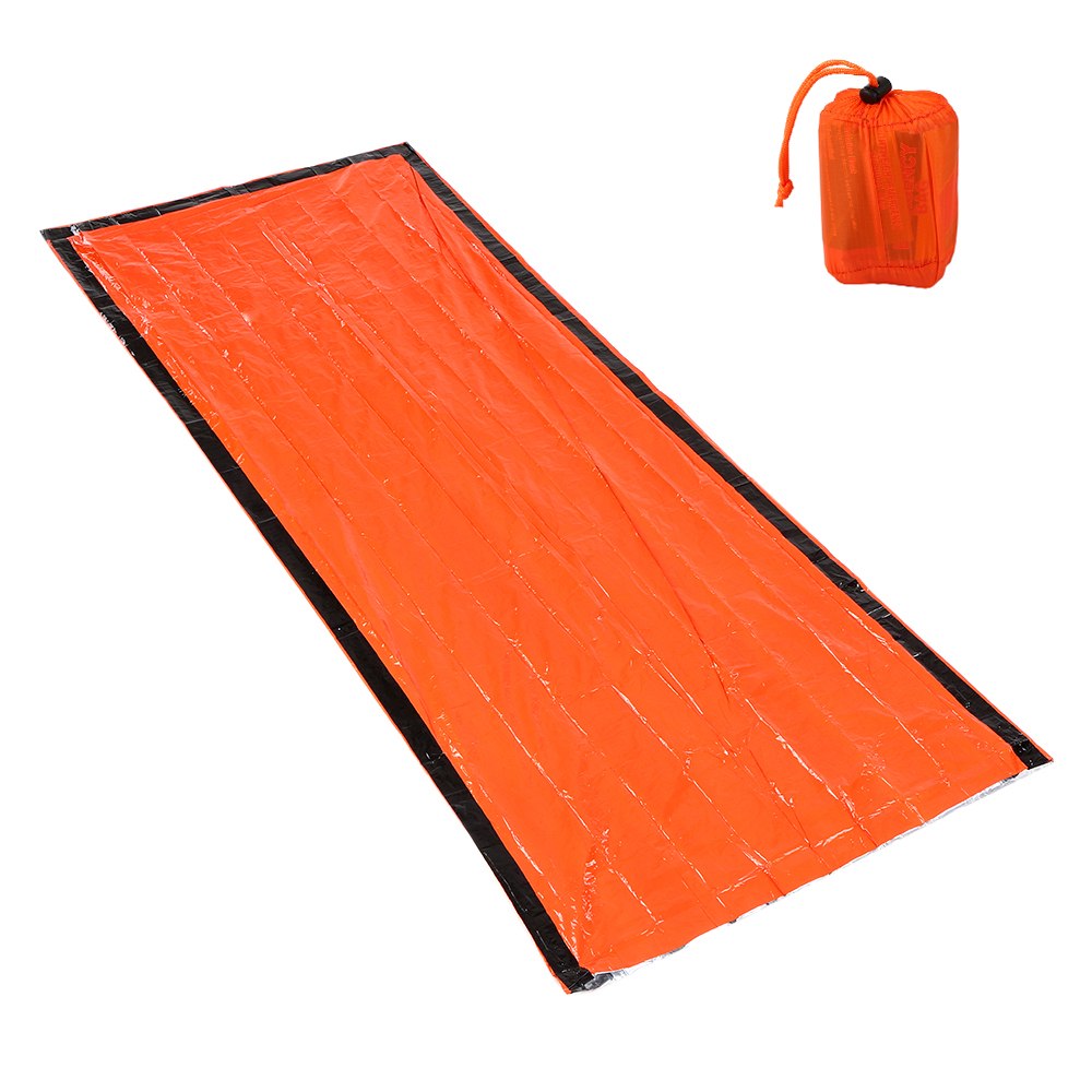 Portable Lightweight Outdoor Emergency Sleeping Bag with Drawstring Sack for Camping Travel Hiking