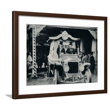 'The Motor-Hearse in Oriental Dress', c1935 Framed Print Wall Art - Oriental Stepping Motor