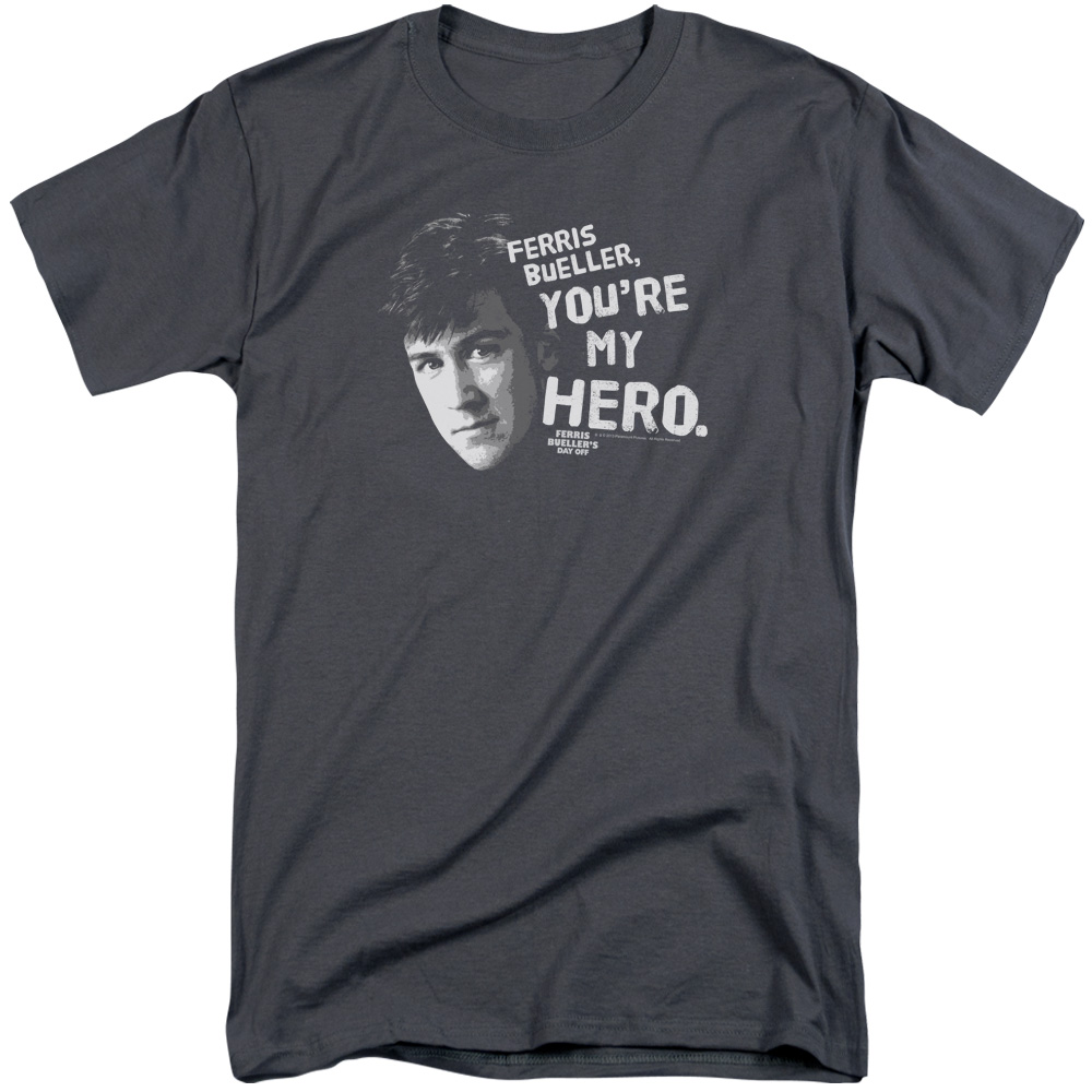 Ferris Bueller My Hero Mens Big and Tall Shirt