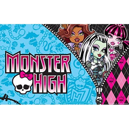 Monster High School Edible Cake Topper Frosting 1/4 Sheet Birthday Party