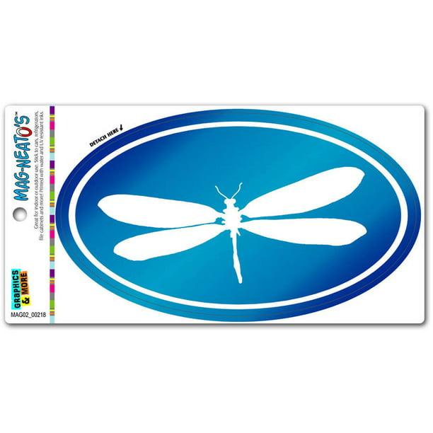 Euro Oval Automotive Car Refrigerator Locker Vinyl Magnet Graphics and More Swim Blue Water