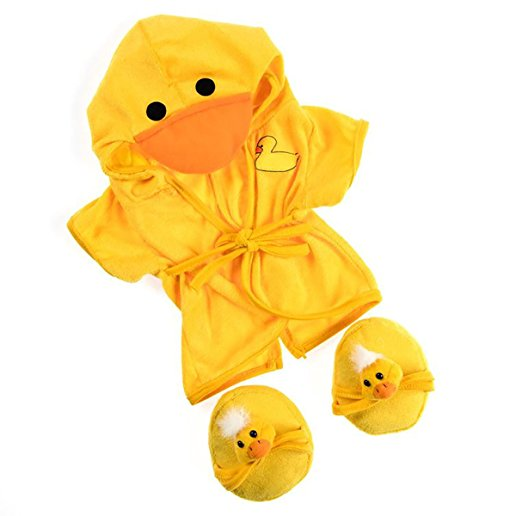 "Duck Robe & Slippers Pajamas Outfit Teddy Bear Clothes Fit 14"" 18"" Build-A-Bear,... by Bear Factory"