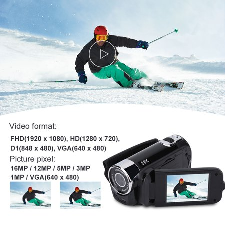 Anauto Full HD 270° Rotation 1080P 16X High Definition Digital Camcorder Video DV Camera, HD Digital Camcorder, 1080P