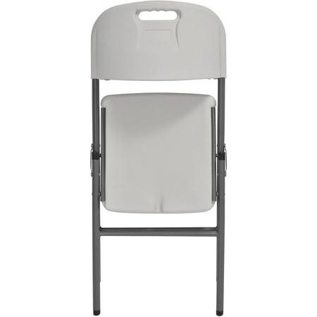 Sandusky Plastic Folding Chairs, 4-Pack
