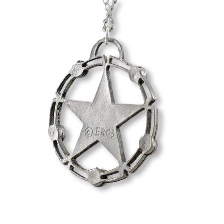 Rhinestone Accented Celtic Pentacle Pendant / Necklace - image 1 de 4