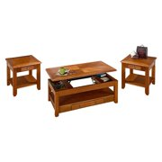 Jofran Lift Top Coffee Table Set-Oak