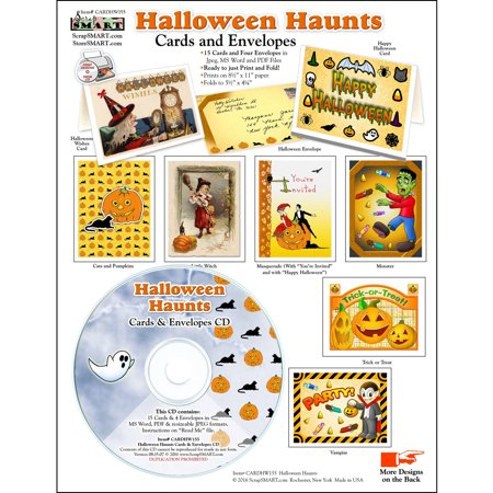 ScrapSMART Halloween Haunts Cards and Envelopes CD-ROM](Halloween Rom)