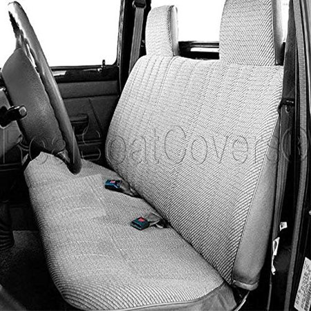 Astonishing Realseatcovers Seat Cover For Toyota Pickup Front Solid Straight Bench 10Mm Thick Triple Stitched A23 Molded High Back Headrest Gray Ibusinesslaw Wood Chair Design Ideas Ibusinesslaworg