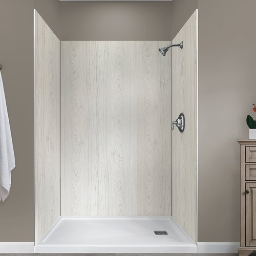 Hazelwood Home Jetcoat  78'' x 48'' x 34'' Five Panel Shower Wall