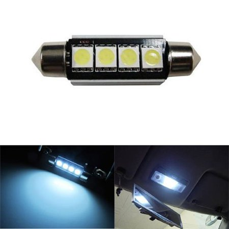 iJDMTOY 4-SMD-5050 Error Free 6411 578 LED Bulb For Car Interior Dome Light or Trunk Area Light, Xenon