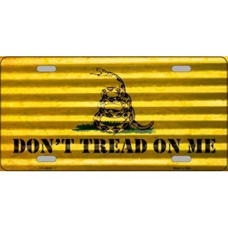 Dont Tread On Me Corrugated Metal License Plate - image 1 of 1